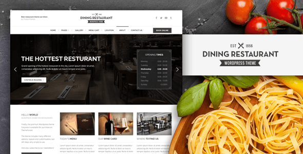 ThemeForest Dining Restaurant WordPress Theme For Chefs 8294419