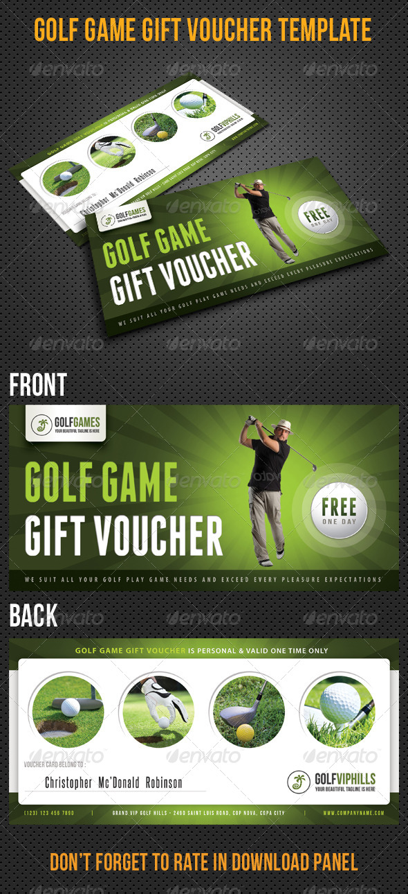 GraphicRiver Golf Game Gift Voucher V13 8294440