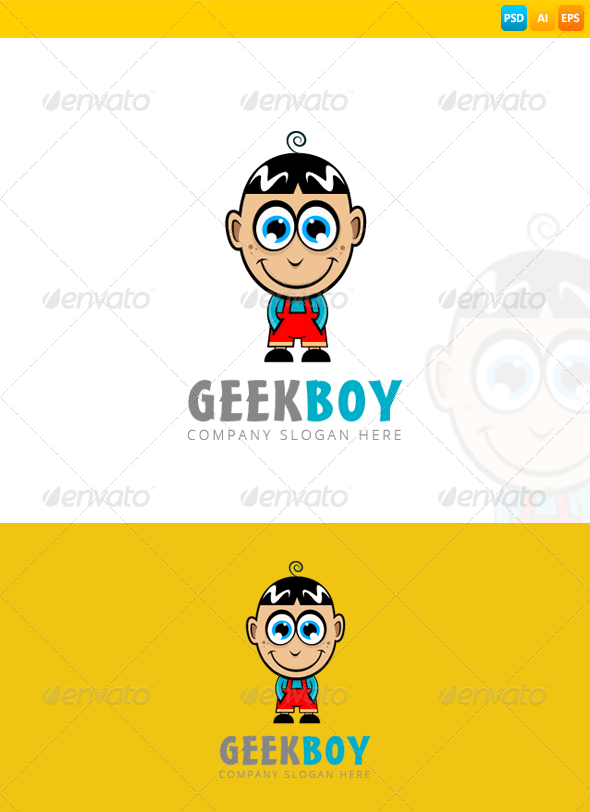GraphicRiver Geek Boy Logo 8294582