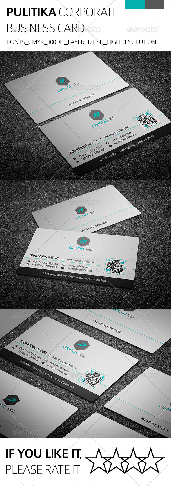 GraphicRiver Pulitica & Corporate Business Card 8294587