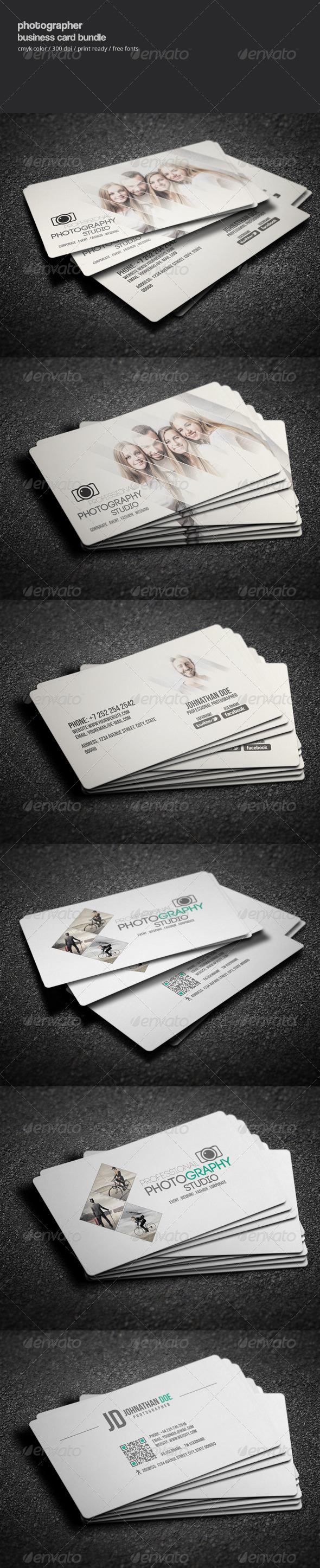 GraphicRiver Photographer Business Card Bundle 8294589