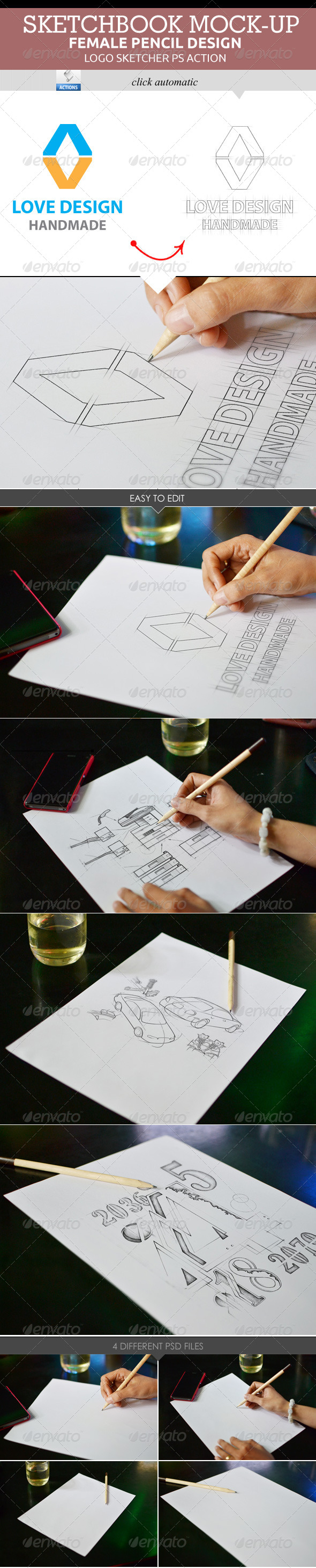 GraphicRiver Sketchbook Mock-Up 8294592