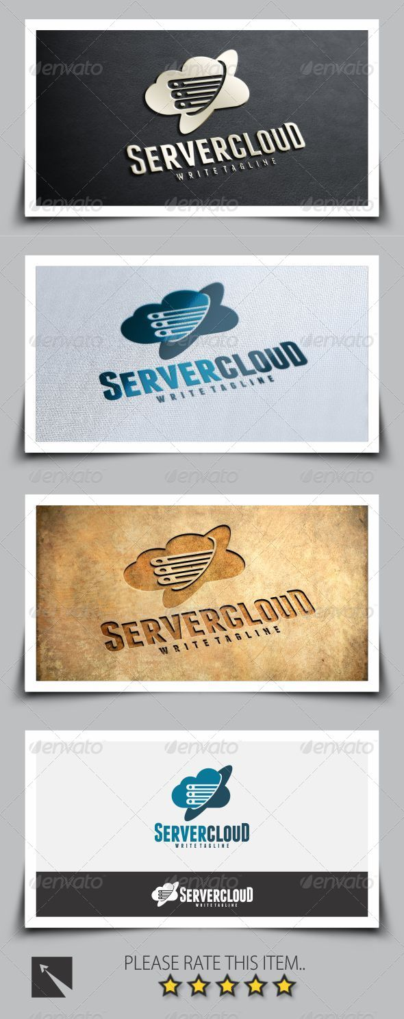 GraphicRiver Cloud Server Logo Template 8294630