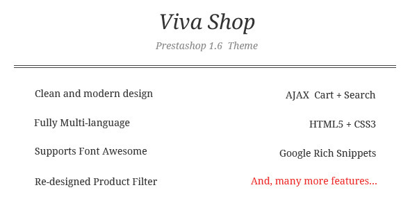 ThemeForest VivaShop Prestashop Theme 8294637