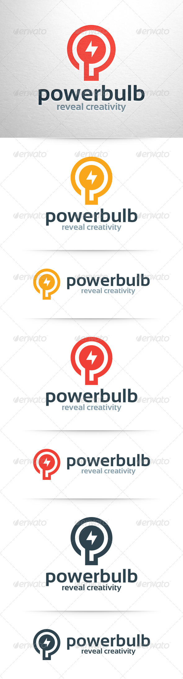 Power Bulb Logo Template