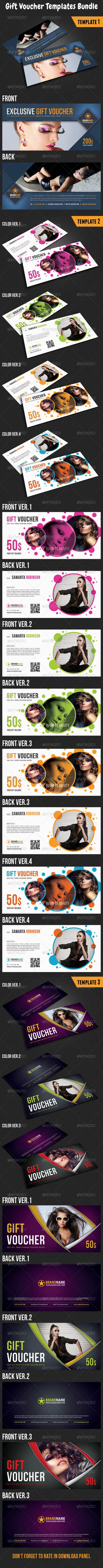 GraphicRiver Gift Voucher Templates Bundle 03 8294639