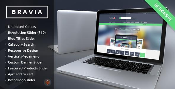 BRAVIA - Responsive Magento Theme - Technology Magento