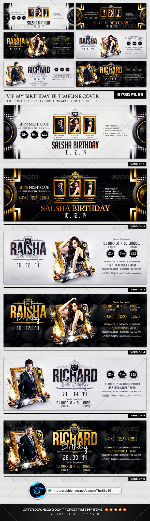 GraphicRiver VIP My Birthday FB Timeline Cover 8294791