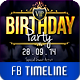 VIP My Birthday FB Timeline Cover - GraphicRiver Item for Sale