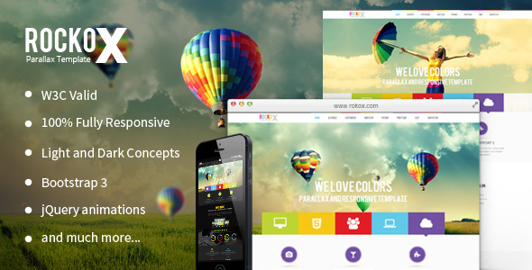 RockoX - One Page Parallax  - Creative Site Templates