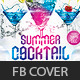 Summer Cocktail Party FB cover - GraphicRiver Item for Sale