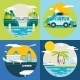 Retro Summer Travel Symbols - GraphicRiver Item for Sale