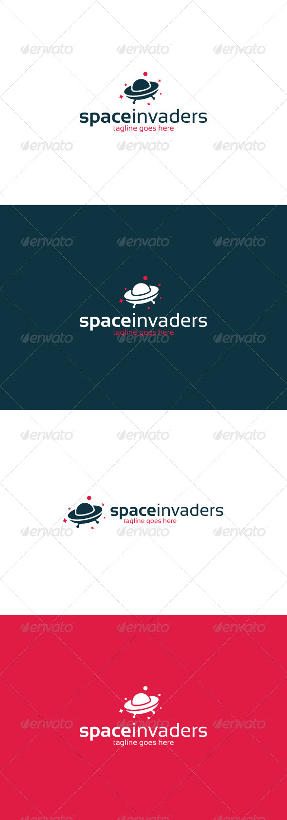 GraphicRiver Space Invaders Logo 8294812