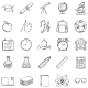 Set of 25 Sketch School Icons - GraphicRiver Item for Sale