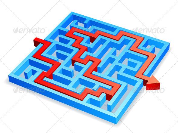 GraphicRiver Maze Concept 8294958