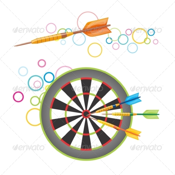 GraphicRiver Darts with Dartboard 8294964