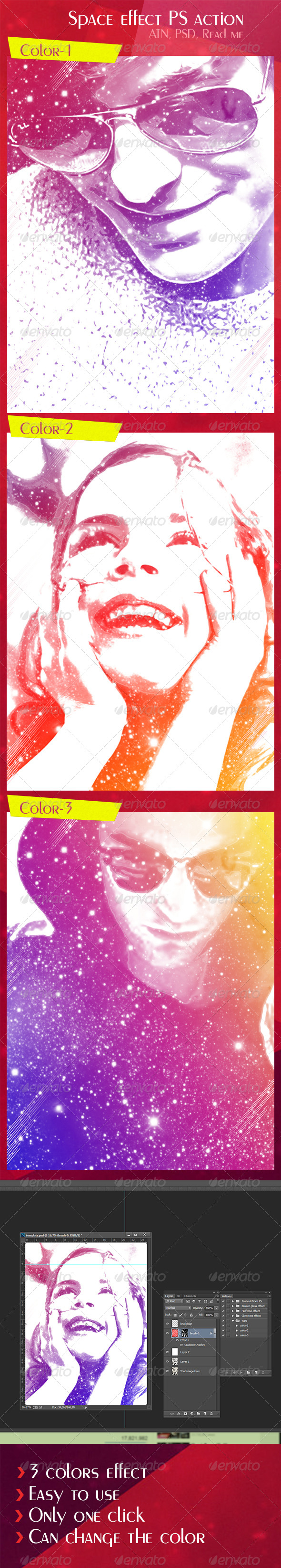 GraphicRiver Space Effect PS Action 8294965