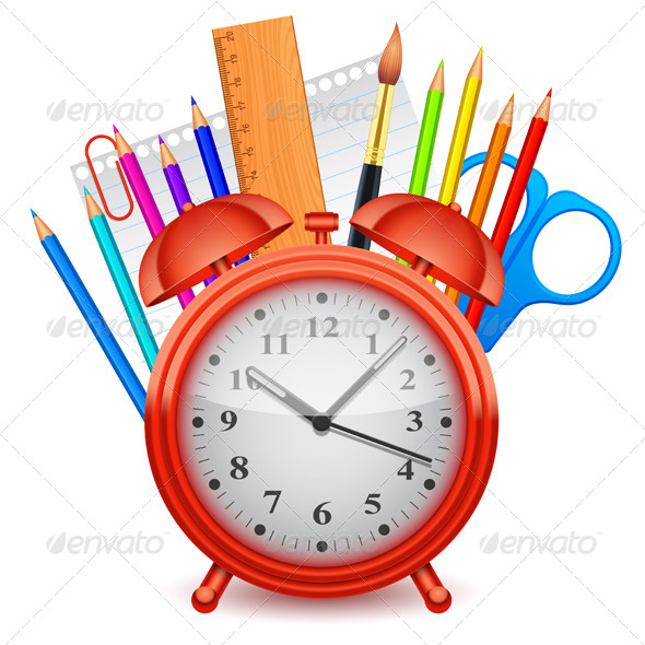 GraphicRiver Time for School Concept 8294969
