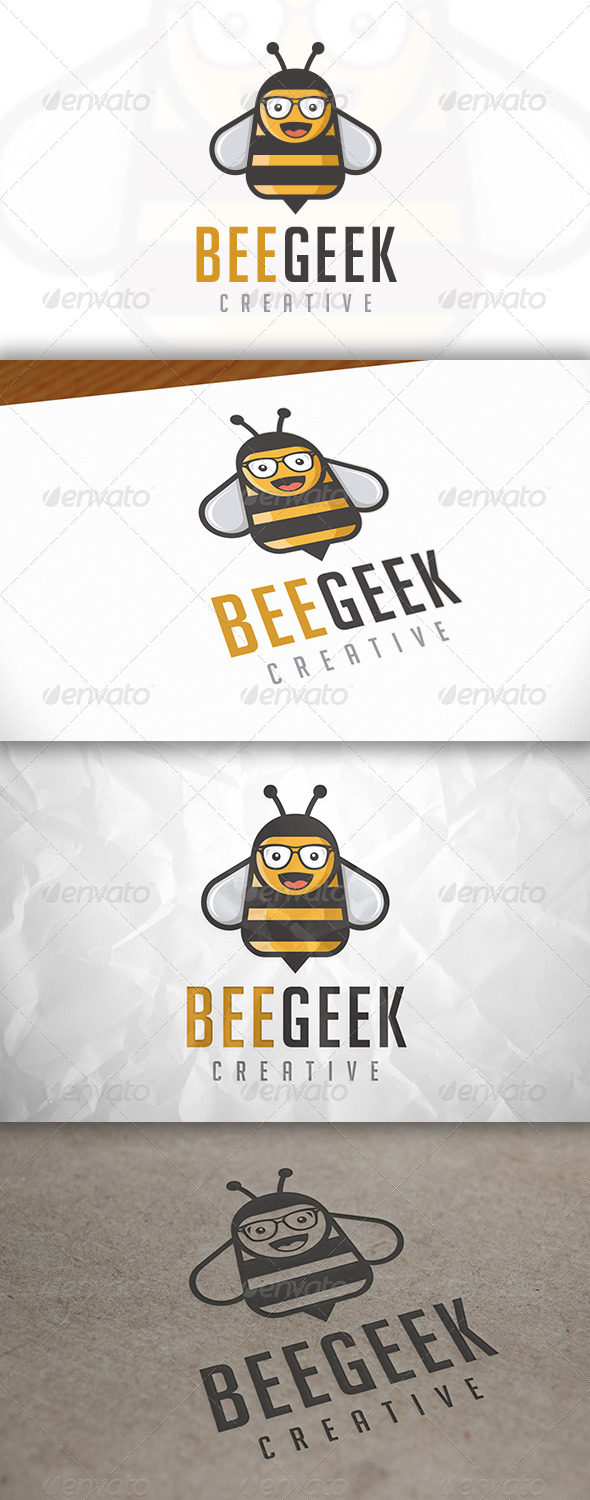 GraphicRiver Bee Geek Logo 8294980