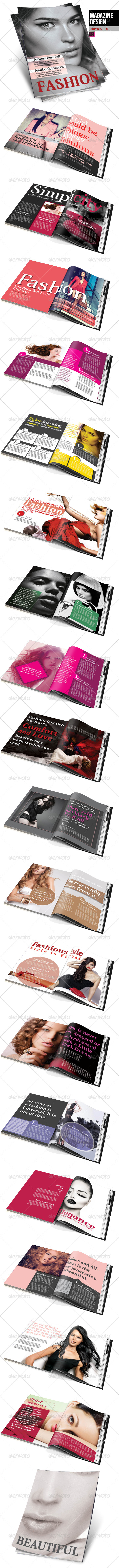 GraphicRiver Fashion Magazine Design 8294994