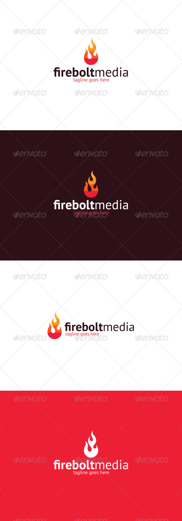 GraphicRiver Firebolt Media Logo 8295064
