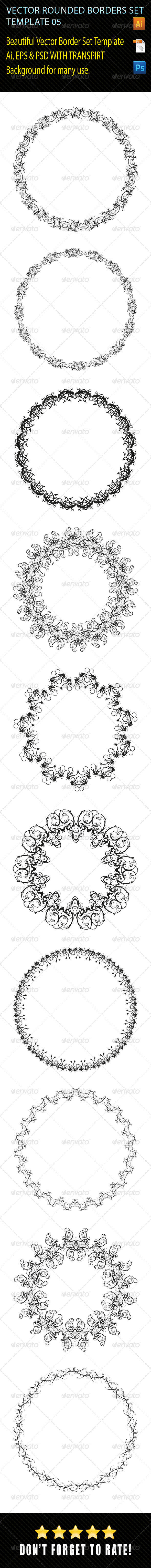 Rounded Borders Set 05