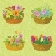 Seamless Floral Baskets with Flowers - GraphicRiver Item for Sale