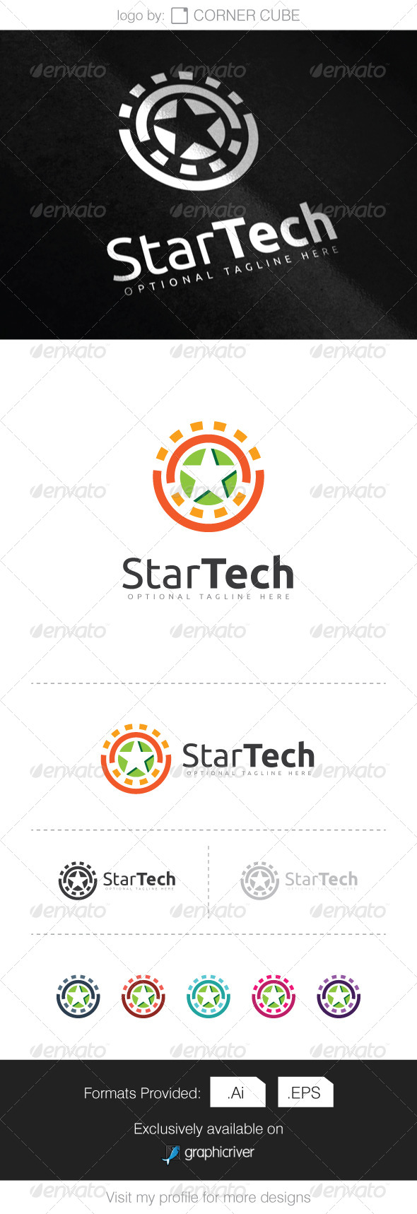 GraphicRiver Star Tech Logo 8292013