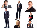 Collage of trendy business people