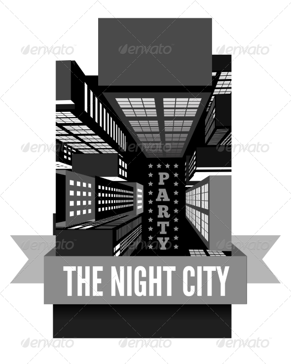 GraphicRiver Night in the City Top view 8295133