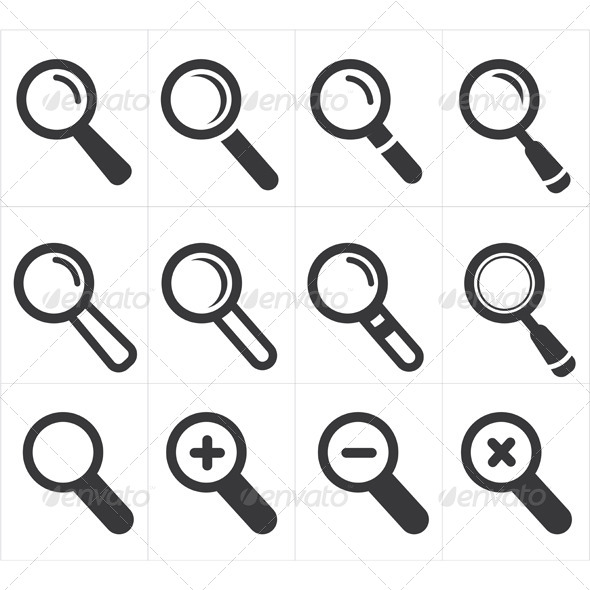 GraphicRiver Icon Search and Magnifier 8295136