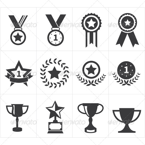 GraphicRiver Trophy Award Icons 8295148