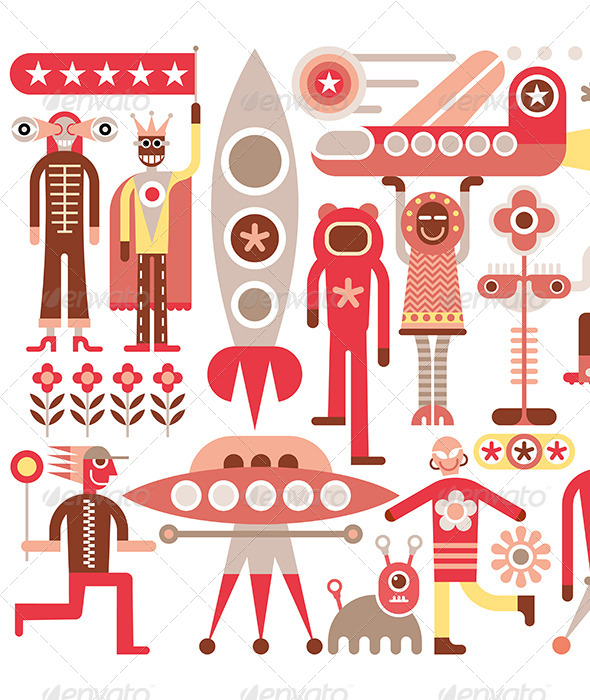 GraphicRiver Humans and Aliens 8295160