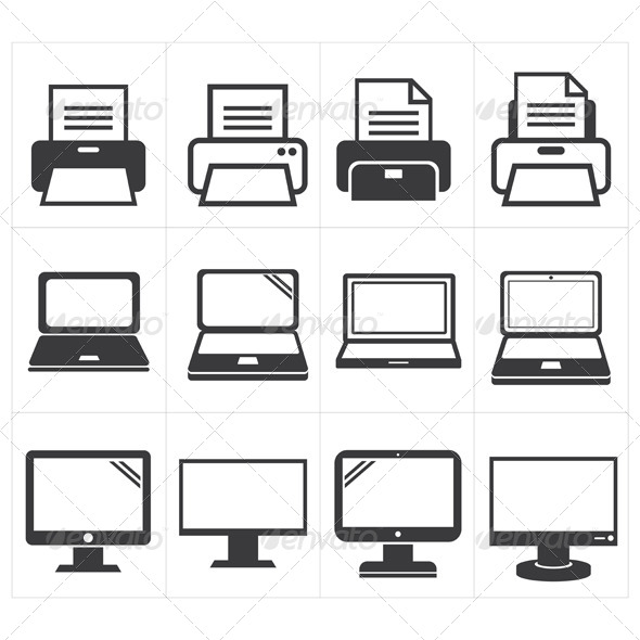 GraphicRiver Office Equipment Icons 8295190