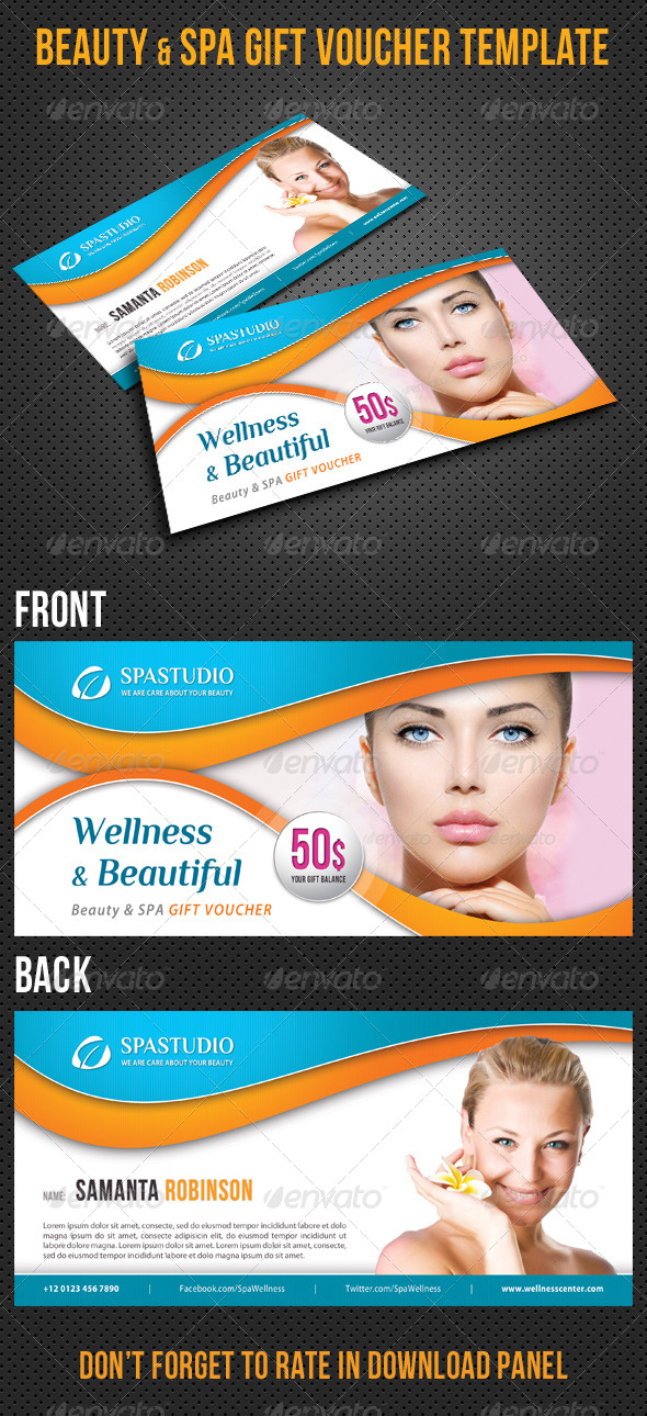 GraphicRiver Beauty and Spa Gift Voucher V14 8295210