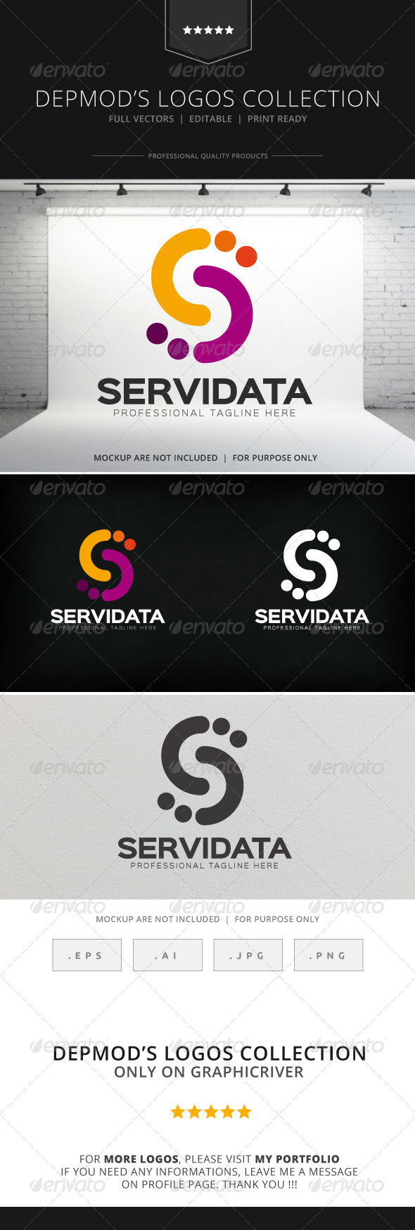 GraphicRiver Servi Data Logo 8295243