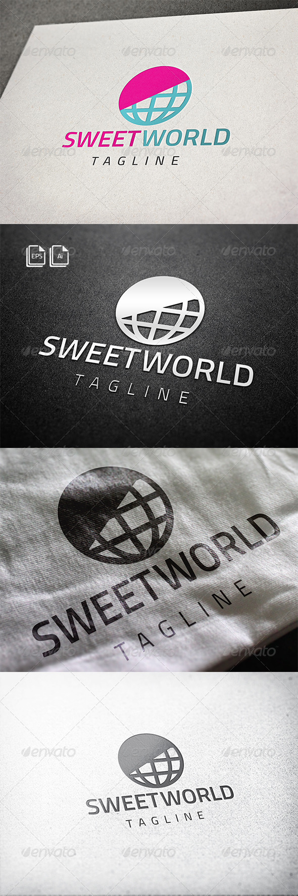 GraphicRiver Sweet World Logo 8295265