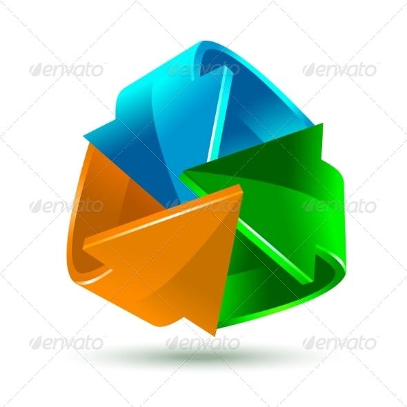 GraphicRiver Colorful Bright Arrows Icon 8295280