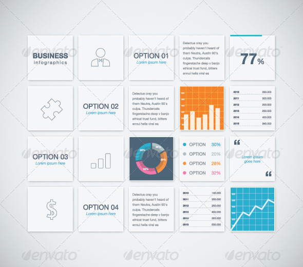 GraphicRiver Modern Infographic Business Vector Template Boxes 8295284