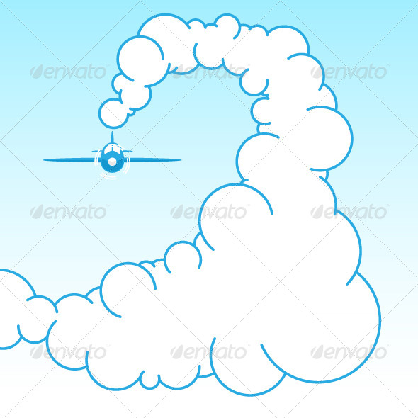 GraphicRiver Plane in the Sky 8295287