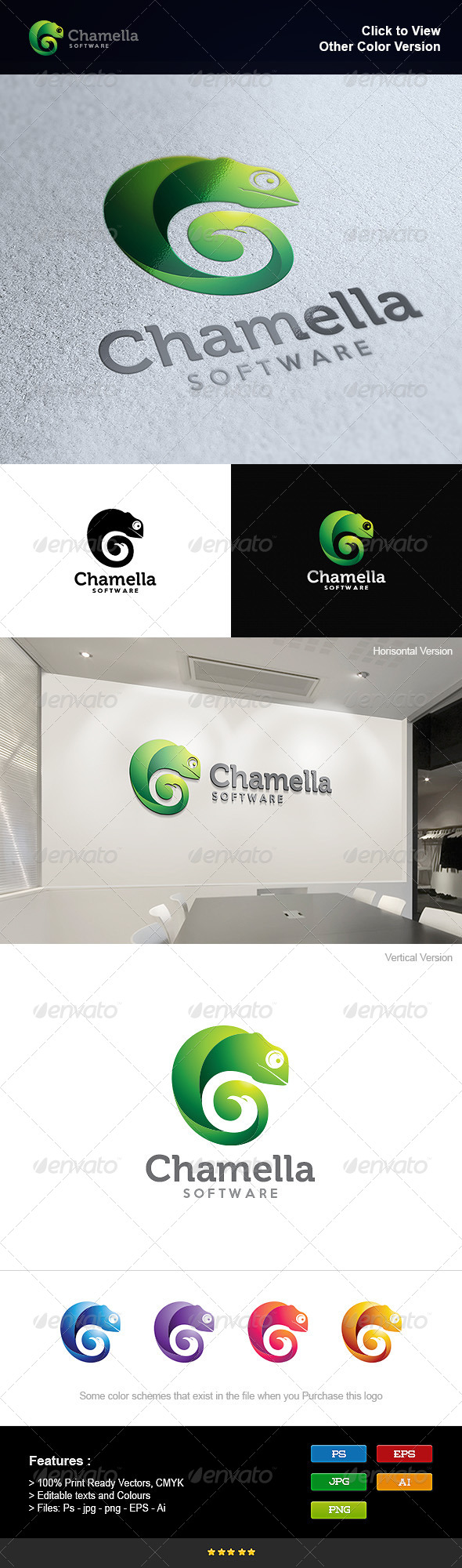 GraphicRiver Chameleon and Eagle 8295384