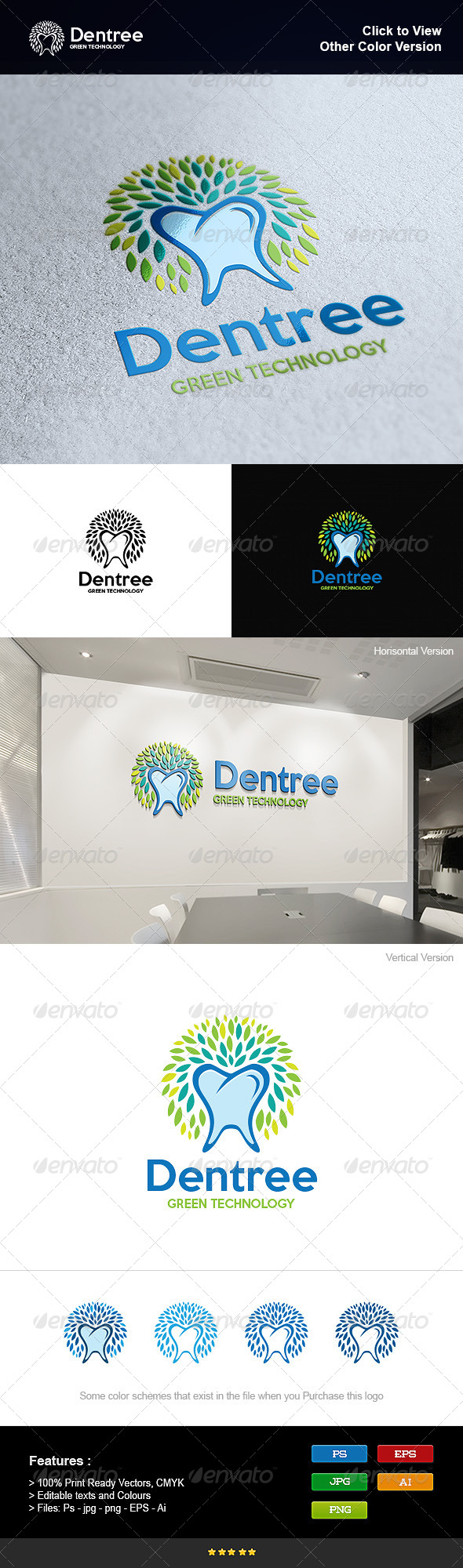 GraphicRiver Health Dental Tree 8295441