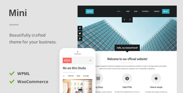 Mini A Unique Responsive WordPress Theme