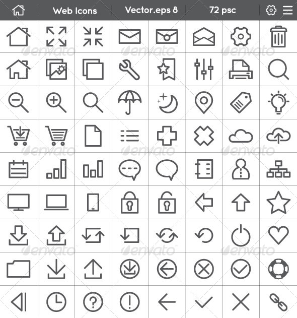 GraphicRiver Web Interface Icons 8295452