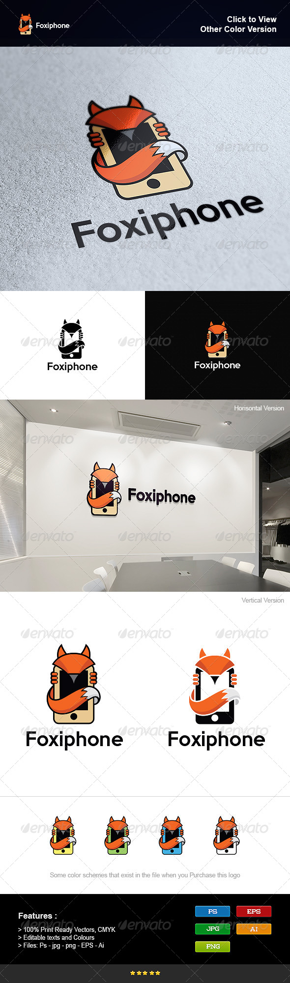 GraphicRiver Fox and Cell Phone 8295454