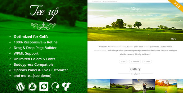 Tee Up - Elegant Golf Wordpress Theme