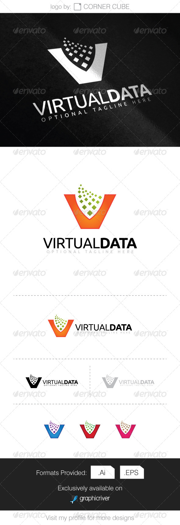 GraphicRiver Virtual Data Logo 8295486