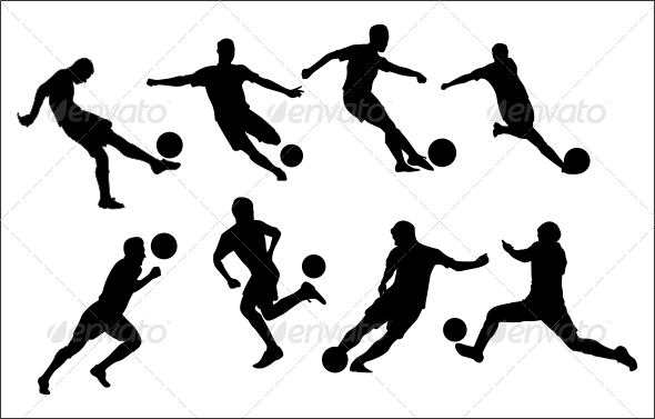 GraphicRiver Soccer Shilouette 8295503