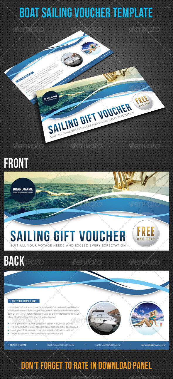 GraphicRiver Boat Sailing Gift Voucher V15 8295540