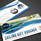 Boat Sailing Gift Voucher V15 - GraphicRiver Item for Sale